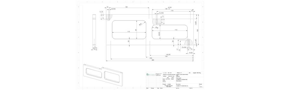 Technische Zeichnung Seitenteil